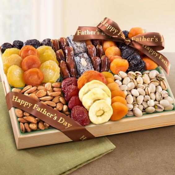 AP8001F, Fathers Day Pacific Coast Deluxe Dried Fruit Tray with Nuts Gift