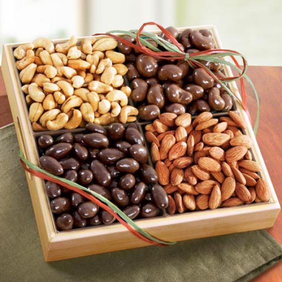 AP8013, Savory and Chocolate Nuts Gift Tray