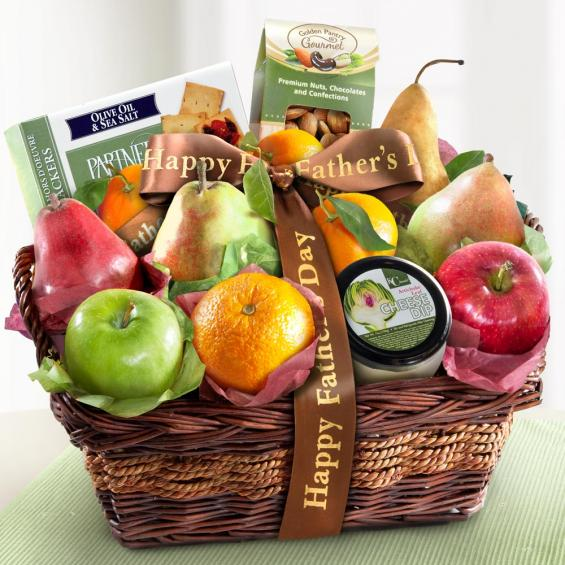 AP8019F, Fathers Day Fruit and Gourmet Basket