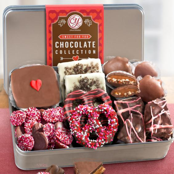 CY2201V, Valentines Day Best Chocolate Deluxe Collection in Keepsake Tin