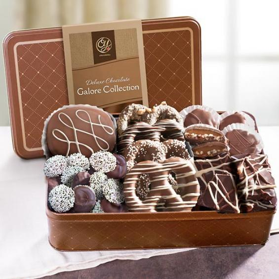 CY4201, Premium Handmade Chocolates Deluxe Assortment in Gift Tin