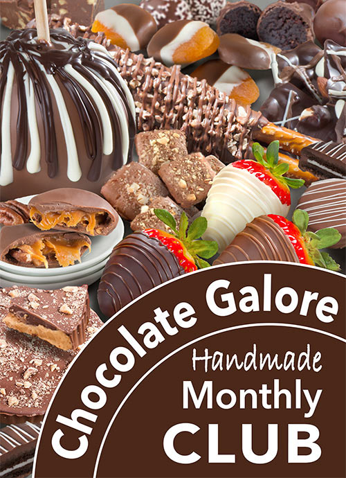 A monthly delivery of our Chocolate Galore Monthly Club