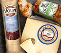 Cinnamon Apple Goat Cheese and Vella Romanello Italian Style Cheese and Volpi Herb De Provence Salami
