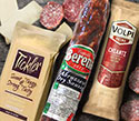 Tickler Aged Cheddar Cheese, Volpi Chianti Salami and Busseto Artisan Robusto Spicy Salami