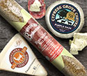 Cypress Grove Purple Haze Chevre., Bella Capra Traditional Goat Cheese and Busseto Herb Coated Salami