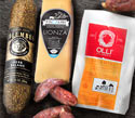 Fiscalini Lionza Cheese, Olli Calabrese Mini Salamis and Columbus Herb Salami