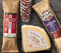 Bellwether Farms Carmody Cheese, Creminelli Black Truffle Tartufo Salami and Un Mondo Cacciatore Italian Salami