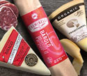 Vella Asiago Cheese, Sierra Nevada Organic Creamy Jack Cheese and Creminelli Borollo Salami