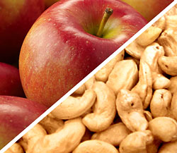 Organic Fuji Apples with Organic Roasted Salted Cashews