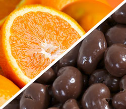 Organic Navel Oranges with Organic Chocolate-covered Cashews