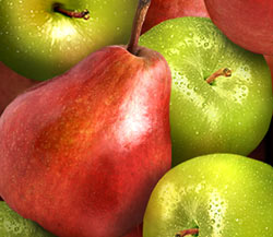 Organic Red Pears and Organic Granny Smith Apples