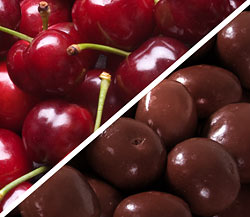 Organic Bing Cherries with Organic Chocolate-Covered Dried Cherries