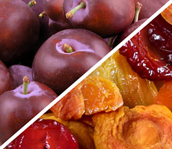 Organic Red Plums with Organic Dried Fruit