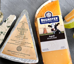 Beemster Aged Gouda, Point Reyes Bay Blue, & Comice Pears