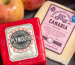 Carr Valley Canaria, Plymouth Signature Vermont Cheese & Smitten Apples