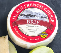 Marin French Melange Brie (2 pieces) & Granny Smith Apples with Dried Figs