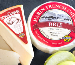 Stuyt Farms Mild Gouda (6 oz.), Marin French Melange Brie (6 oz.) & Granny Smith Apples with Dried Figs
