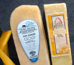 San Joaquin Gold Cheddar, Beehive Seahive Honey-Sea Salt Rubbed & Ataulfo Mangos