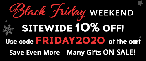 Black Friday Weekend! 10% Off Sitewide with code FRIDAY2020