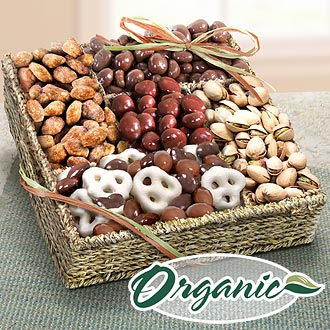 Mendocino Organic Chocolate and Nuts Gift Basket - RA4008 - A Gift ...
